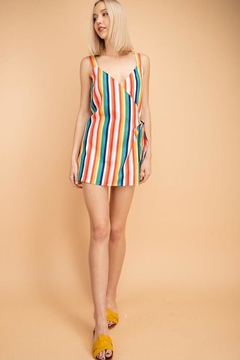 Le Lis Multi-Colored Striped Romper - Product List Image