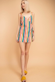 Le Lis Multi-Colored Striped Romper - Product Mini Image