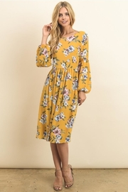 Le Lis Mustard Floral Dress - Product Mini Image