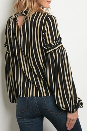 Le Lis Mustard Striped Top - Front full body