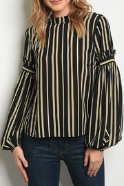 Le Lis Mustard Striped Top - Front cropped