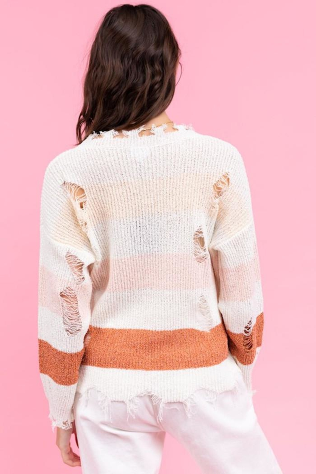 Le Lis My Way Sweater - Back Cropped Image