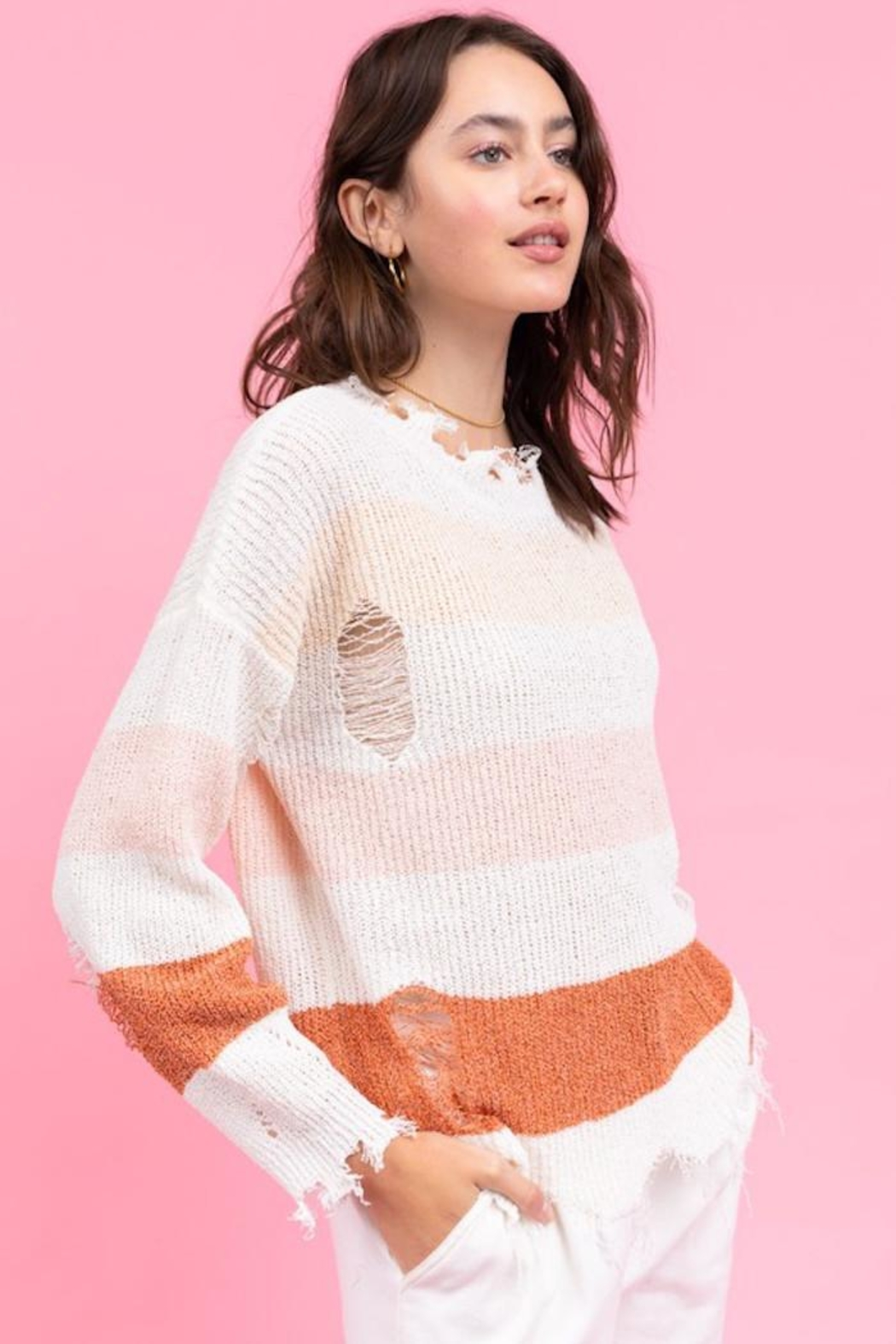 Le Lis My Way Sweater - Side Cropped Image