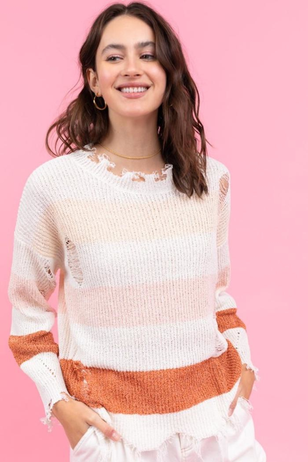 Le Lis My Way Sweater - Front Full Image