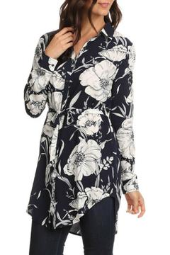 Le Lis Navy Floral Tunic - Product List Image