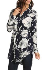 Le Lis Navy Floral Tunic - Product Mini Image
