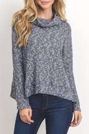 Le Lis Navy Marled Top - Product Mini Image