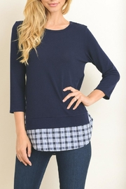 Le Lis Navy Sweater Top - Product Mini Image