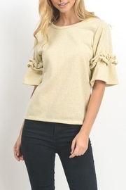 Le Lis Oatmeal Lurex Ruffles - Front cropped