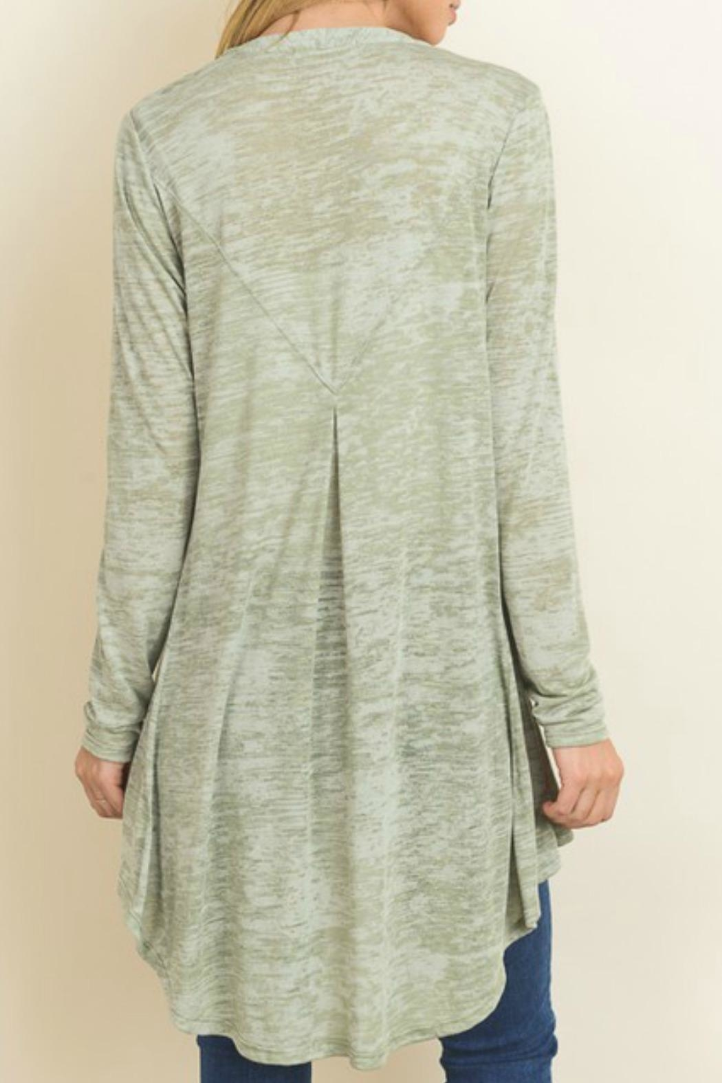 Le Lis Olive Green Cardigan - Front Full Image