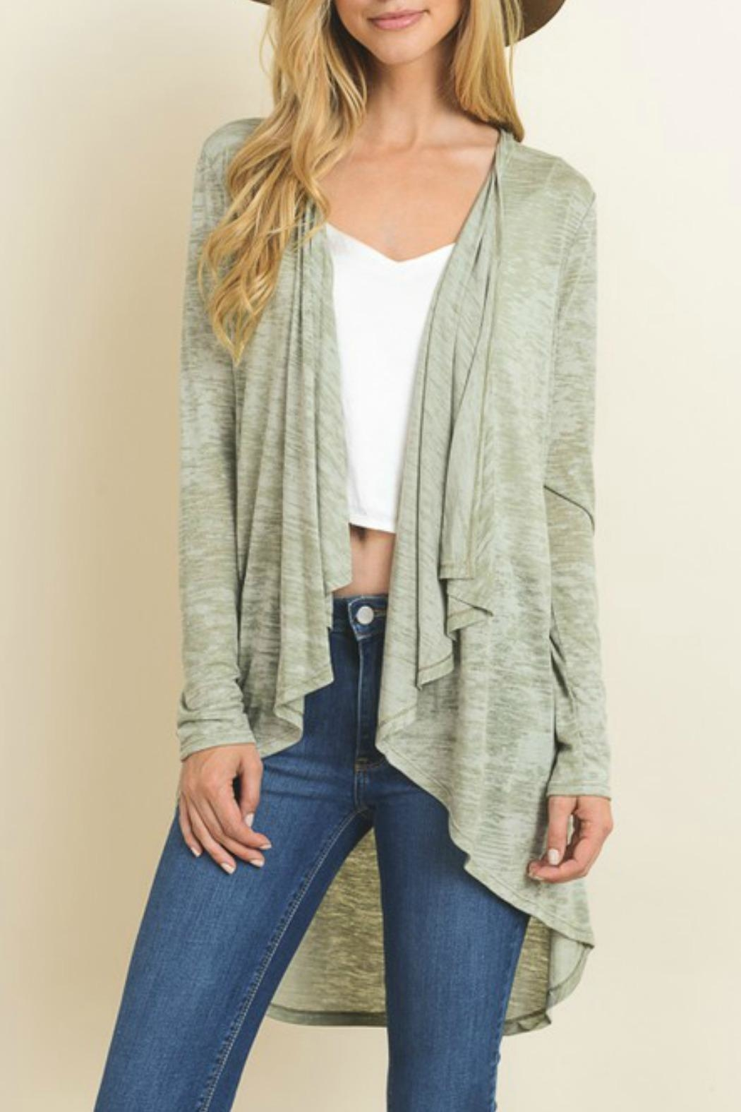 Le Lis Olive Green Cardigan - Main Image