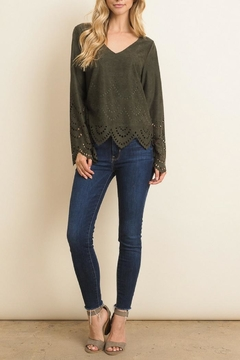 Le Lis Olive Cut Out Top - Product List Image