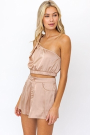 Le Lis One Shoulder Twisted Strap  Top - Back cropped