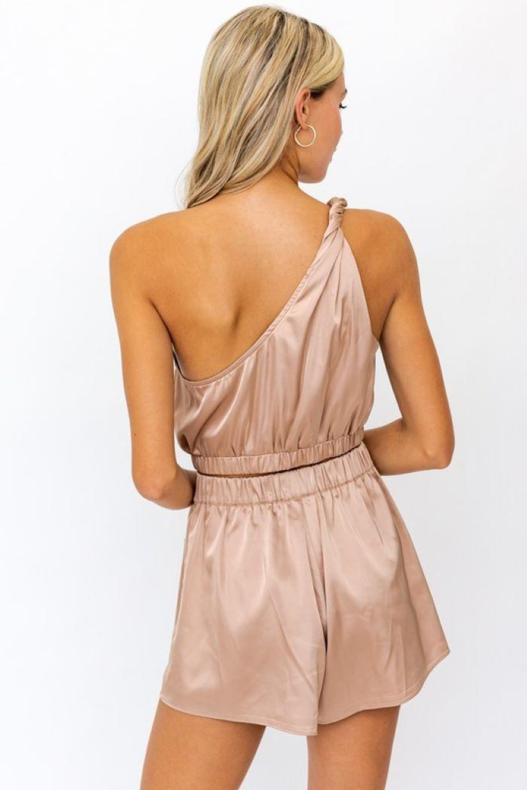 Le Lis One Shoulder Twisted Strap  Top - Front Full Image
