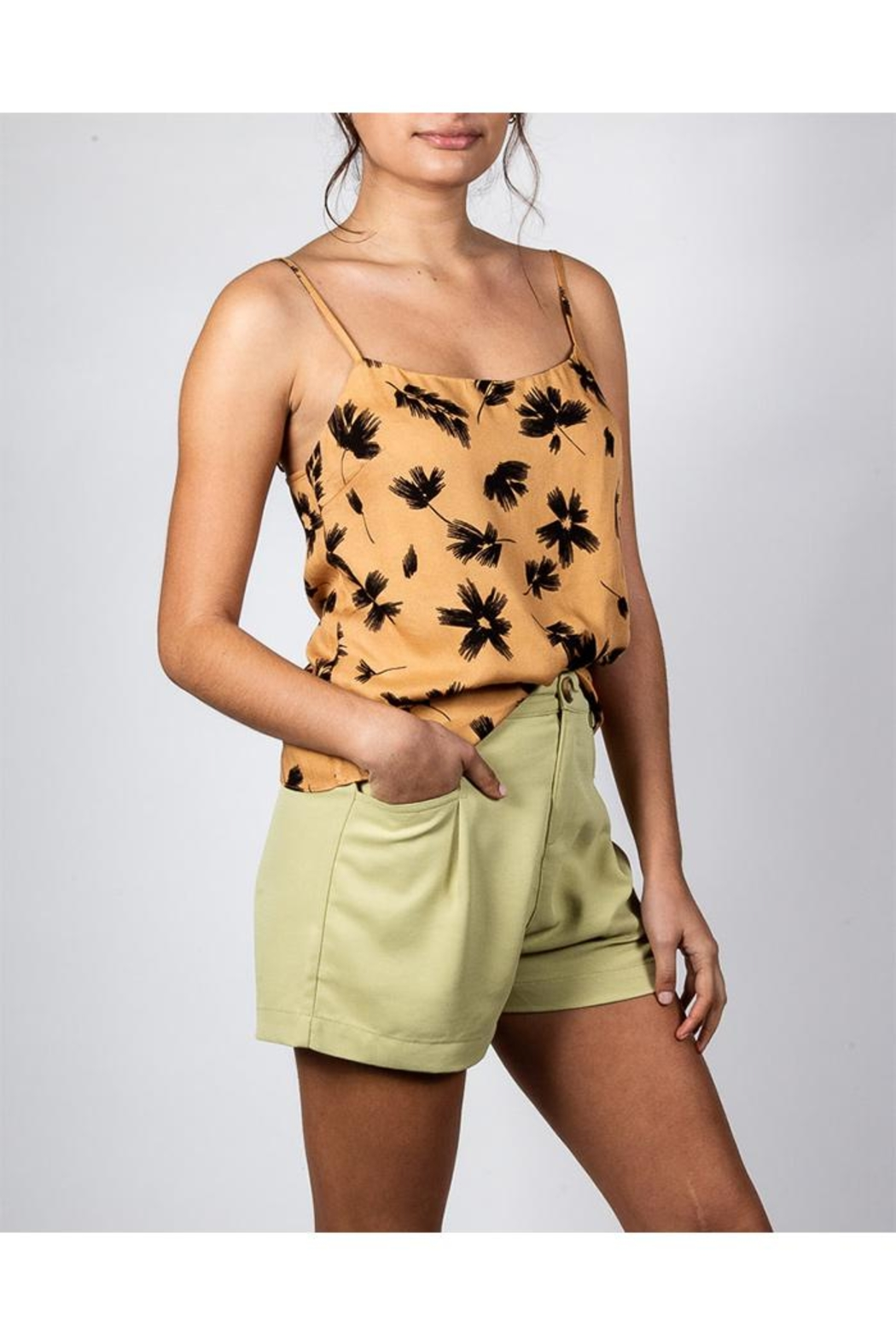 Le Lis Palm Cami Top - Front Full Image