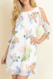 Le Lis Palm Print Dress - Front cropped