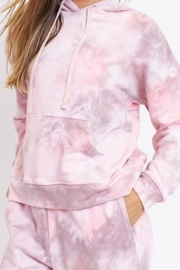 Le Lis Pink Marble Hoodie - Front cropped