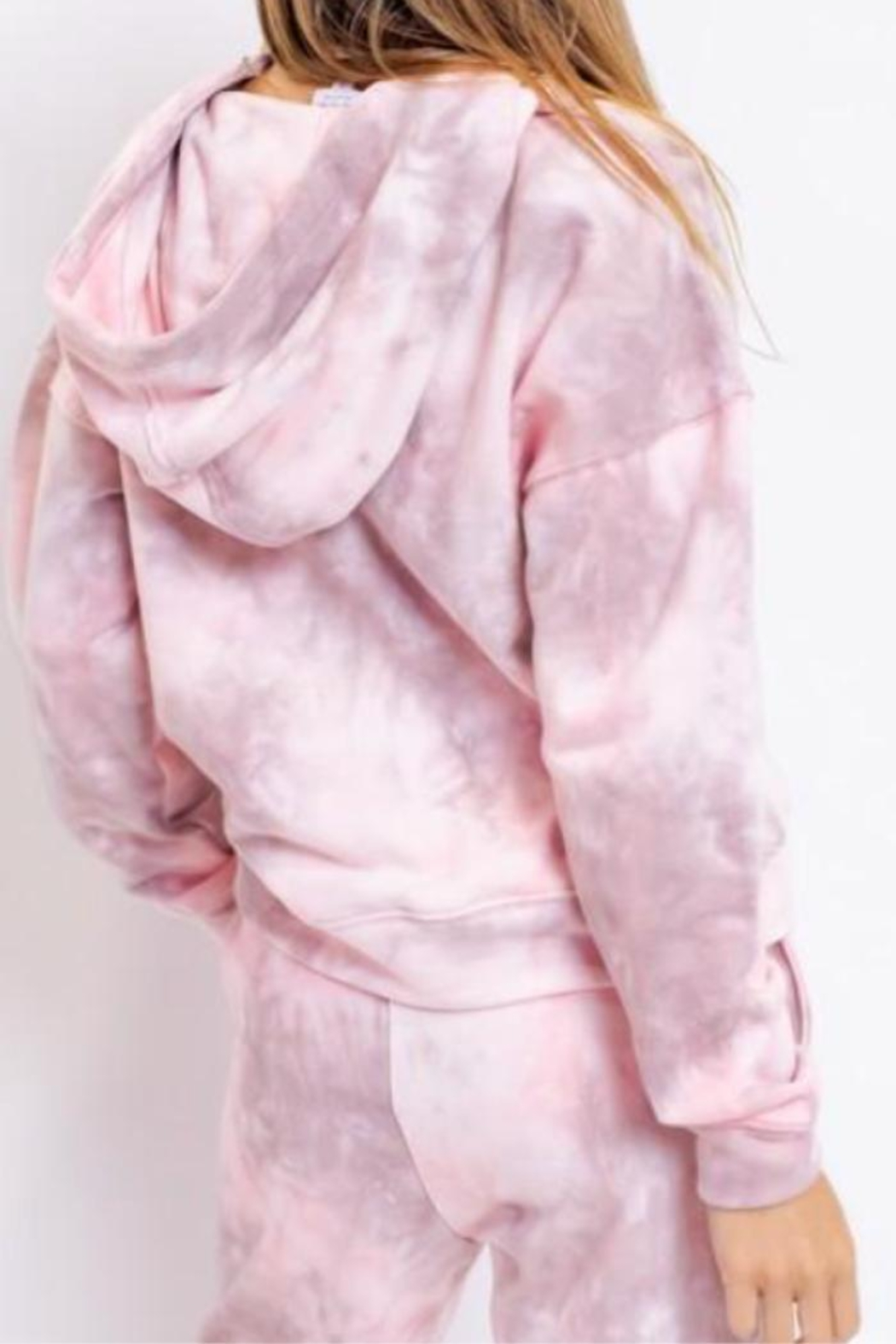 Le Lis Pink Marble Hoodie - Front Full Image