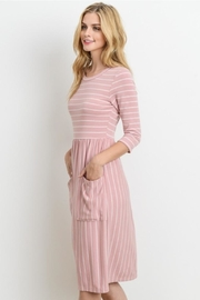 Le Lis Pink Striped Dress - Side cropped