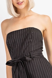 Le Lis Pinstripe Tube Romper - Other