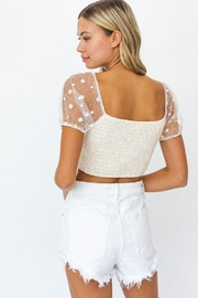 Le Lis Puff Sleeve Mesh Ruching Top - Other