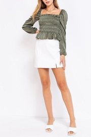 Le Lis Puff-Sleeve Square-Neck Top - Other