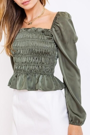 Le Lis Puff-Sleeve Square-Neck Top - Side cropped