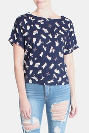 Le Lis Puppy Love Navy Top - Product Mini Image