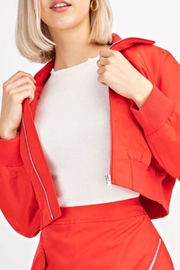 Le Lis Red Cropped Bomber - Product Mini Image