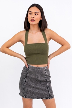 Le Lis Ribbed Crop Cami - Product List Image