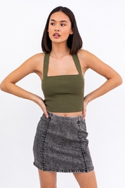 Le Lis Ribbed Crop Cami - Front cropped
