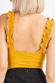 Le Lis Ribbed Ruffle Bodysuit - Front full body