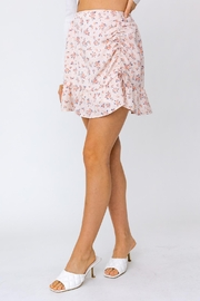 Le Lis Ruched Floral Mini Skirt - Back cropped