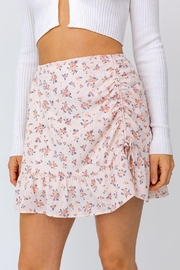 Le Lis Ruched Floral Mini Skirt - Other
