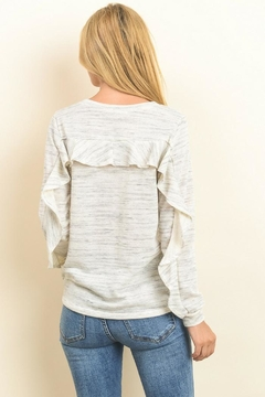 Le Lis Ruffle Sweatshirt - Alternate List Image