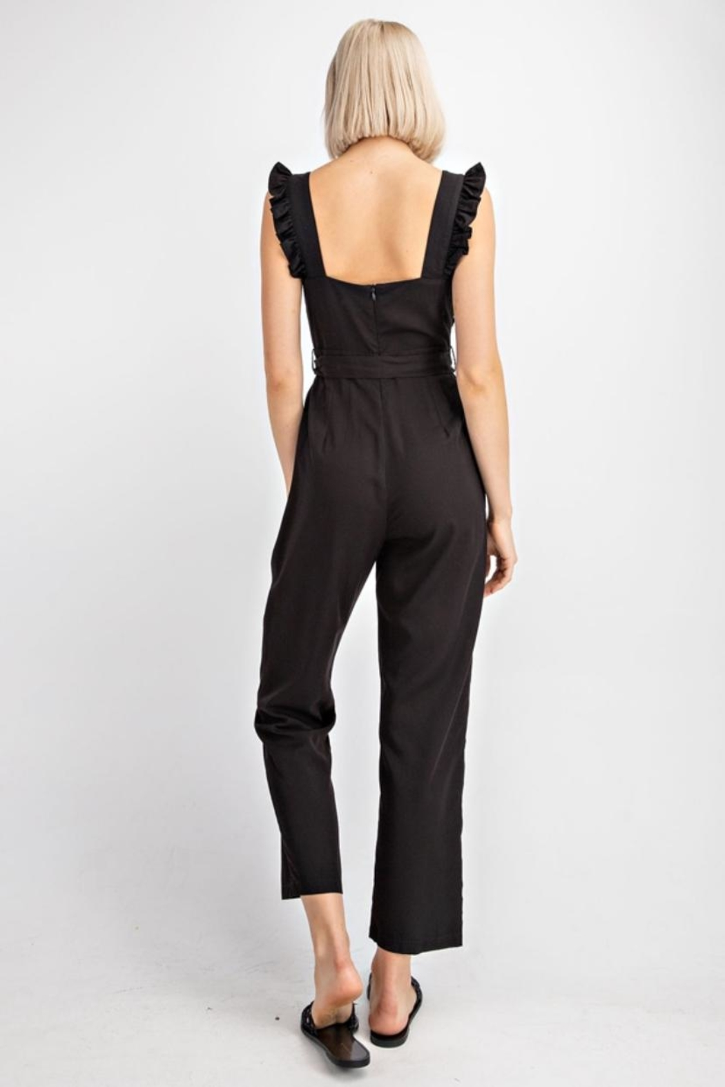 Le Lis Ruffled Tencel Jumpsuit - Side Cropped Image