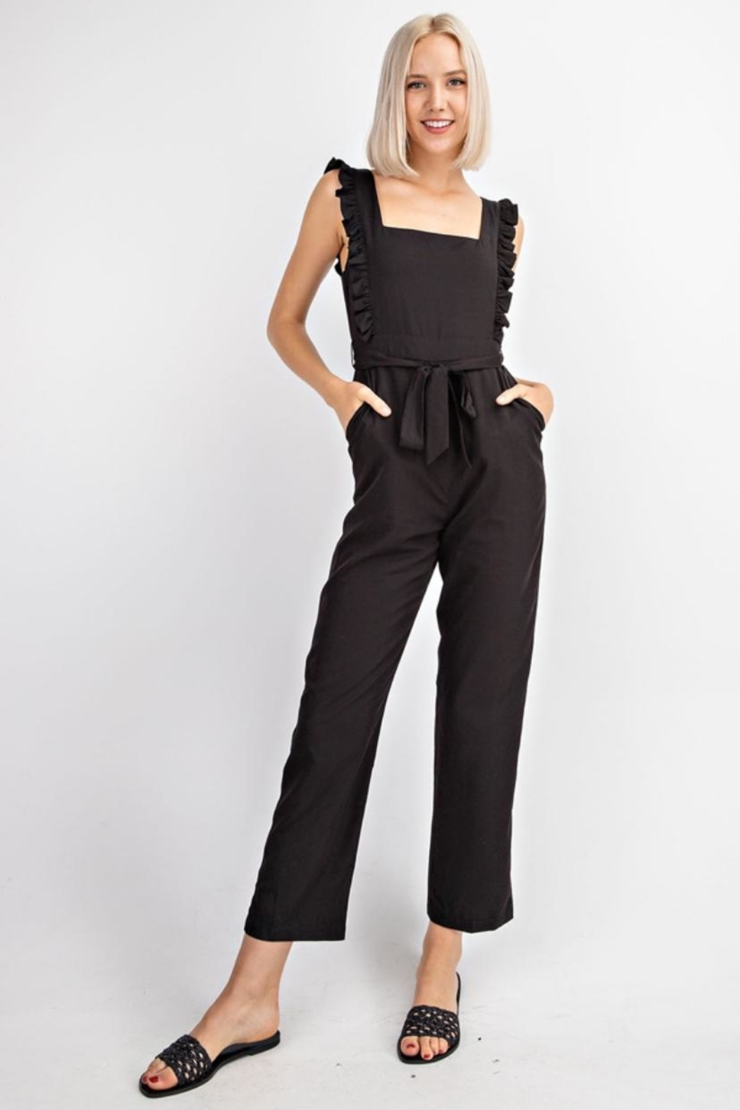 Le Lis Ruffled Tencel Jumpsuit - Main Image
