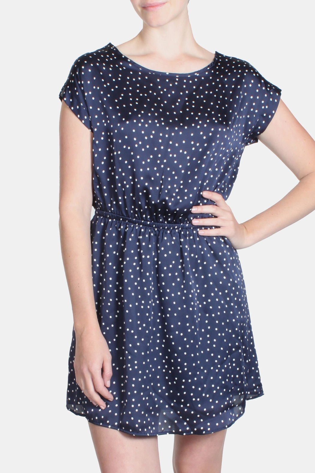 Le Lis Satin Polka Dot Dress - Main Image