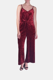 Le Lis Scarlett Crushed-Velvet Jumpsuit - Product Mini Image