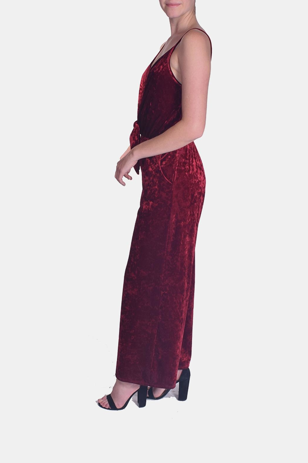 d11f9af995b Le Lis Scarlett Crushed-Velvet Jumpsuit from Los Angeles by Goldie s ...