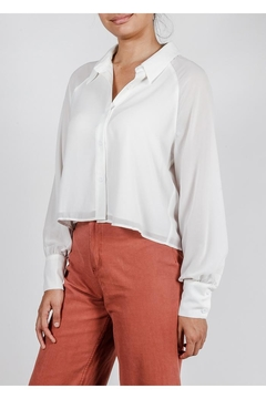 Le Lis Sheer Button-Down Top - Product List Image