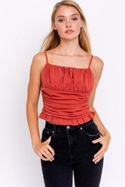 Le Lis Sleeveless Ruched Top - Product Mini Image