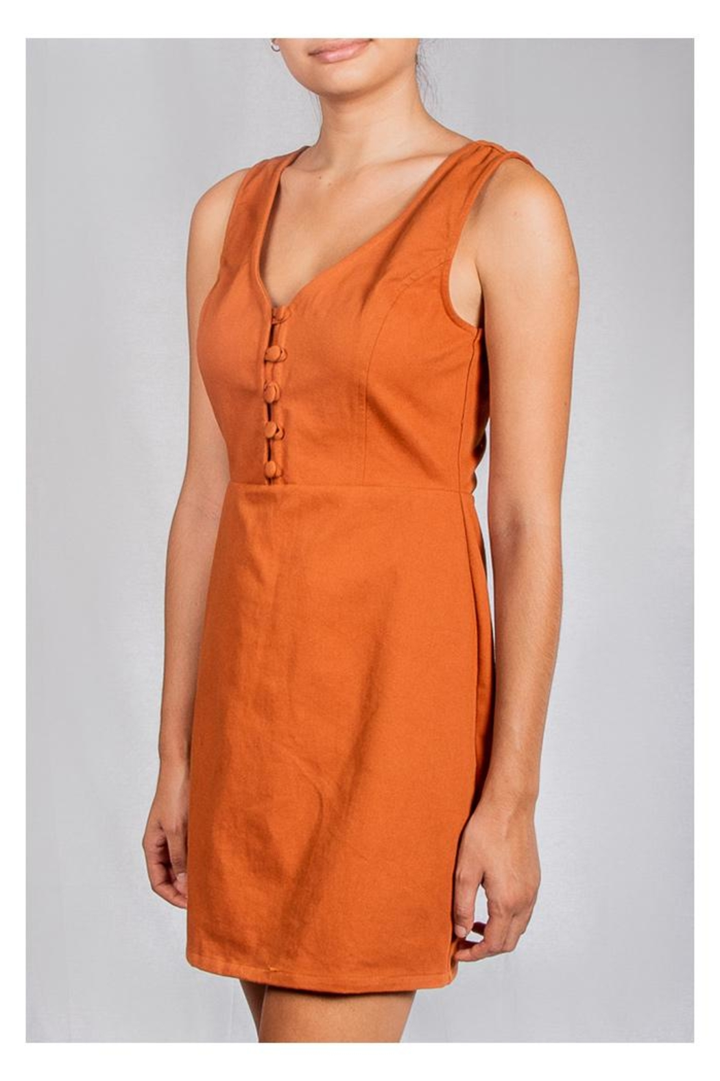 Le Lis Spice Twill Dress - Front Full Image