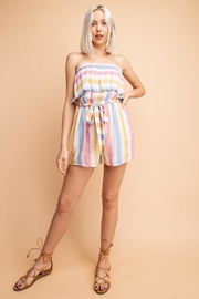 Le Lis Strapless Striped Romper - Product Mini Image