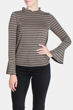 Le Lis Striped Ruffle Neck Blouse - Product List Image