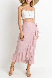 Le Lis Striped Ruffle Skirt - Front cropped