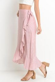 Le Lis Striped Ruffle Skirt - Side cropped