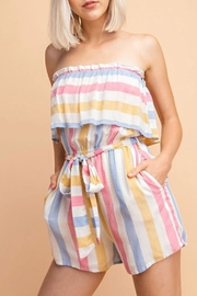 Le Lis Summer Stripe Romper - Product Mini Image