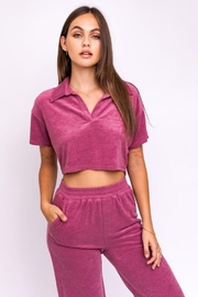 Le Lis Terry Collared Crop Top - Product Mini Image
