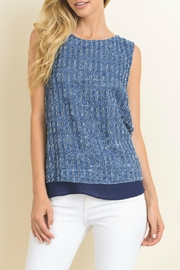 Le Lis Textured Denim Tank - Product Mini Image